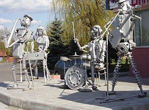 Памятник Beatles в Гомеле