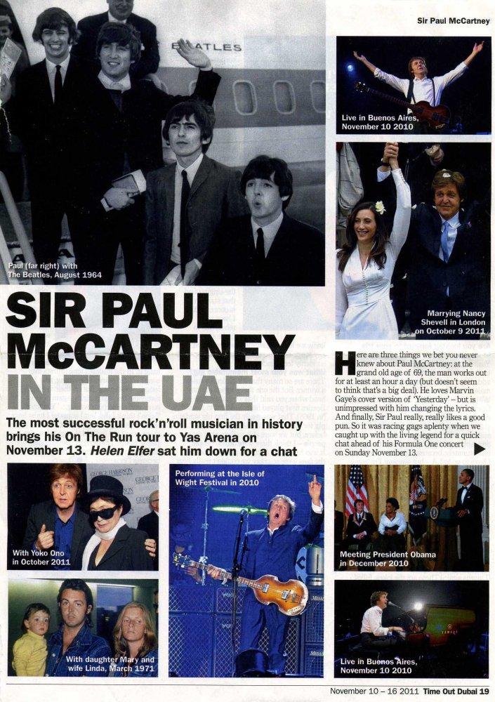 Sir Paul McCartney in the UAE