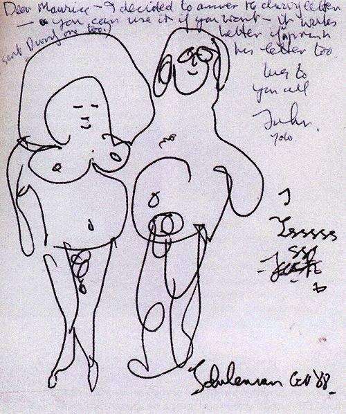Джону явно доставляло удовольствие рисовать себя и Йоко, одетыми или раздетыми.