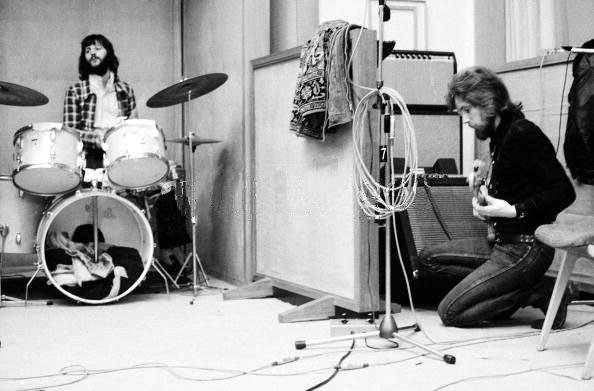 Ринго и Клаус Вурманн на сессиях 'Plastic Ono Band', 1970