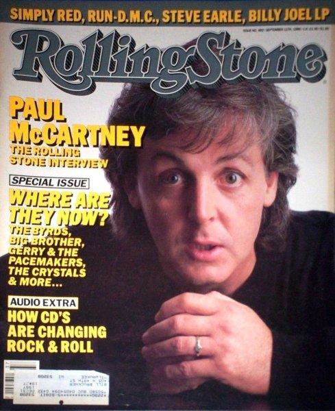 Rolling Stone Magazine #482 Paul Mccartney
