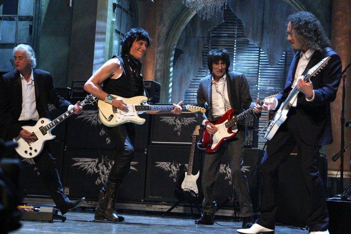 Jeff Beck, Jimmy Page, Ron Wood & Joe Perry