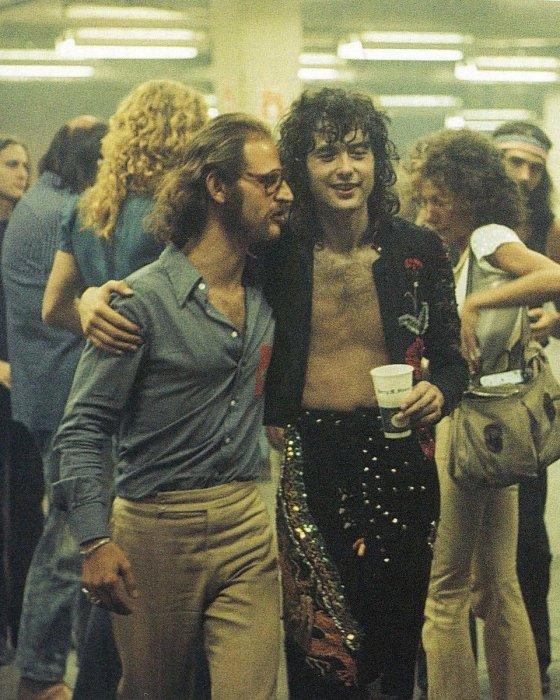 Eddie Kramer with Jimmy Page